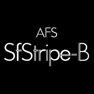 組み込みOK fontUcom ゲームで使える87書体セット AFS-SfStripe-B
