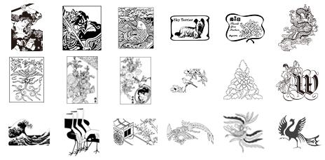 ベクトル図案シリーズ1 日本の工芸図案集
