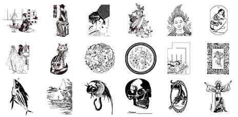 ベクトル図案シリーズ 日本の実用図案集
