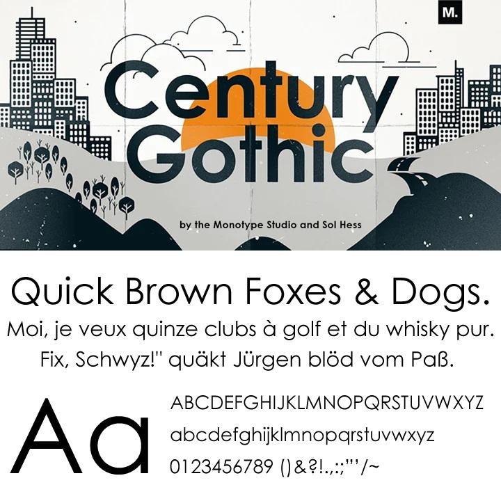 Century Gothic Futura(フツラ・フーツラ)の代替えフォント