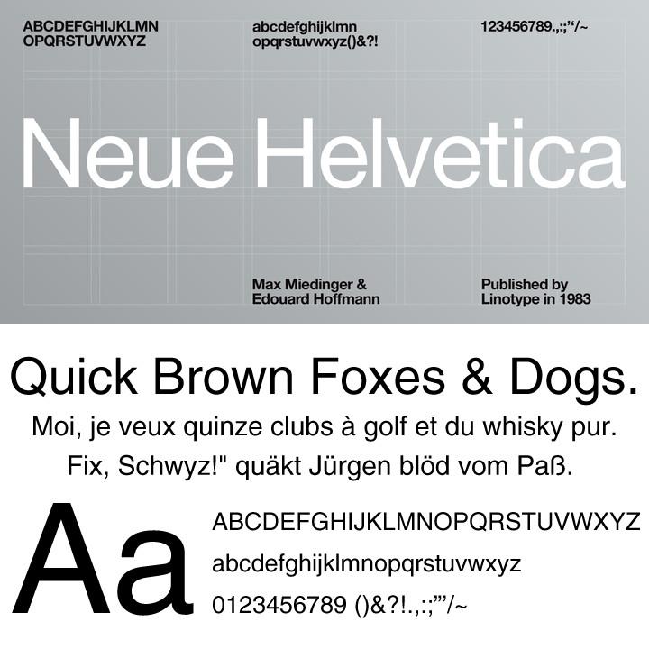 Neue Helvetica(ノイエ・ヘルベチカ)