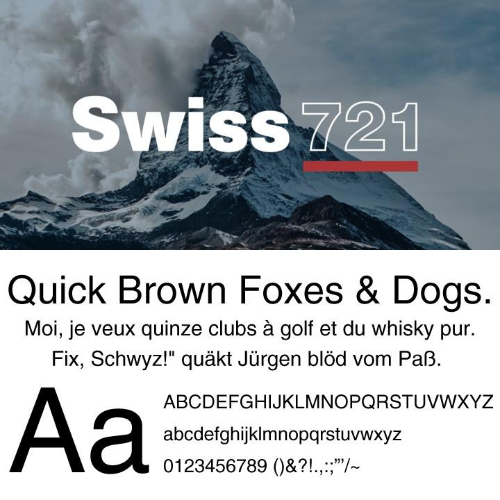 Swiss721 Helvetica(ヘルベチカ)の代替えフォント